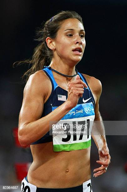 Kara Goucher of the United States competes in the Women's 10000m Final at the National Stadium on Day 7 of the Beijing 2008 Olympic Games on August...