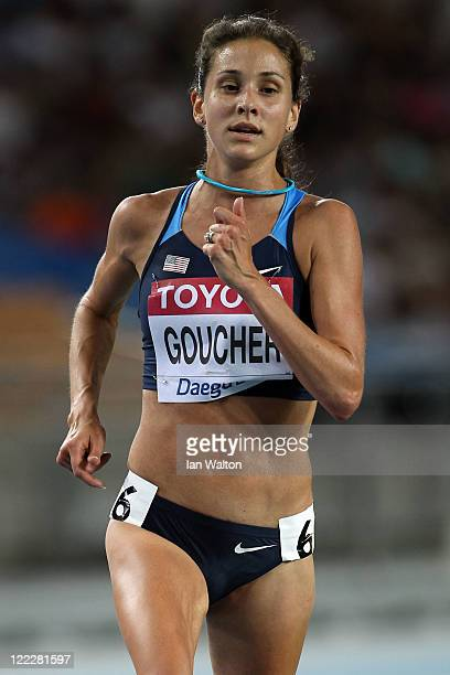Kara Goucher of United States competes in the women's 10000 metres final during day one of the 13th IAAF World Athletics Championships at the Daegu...
