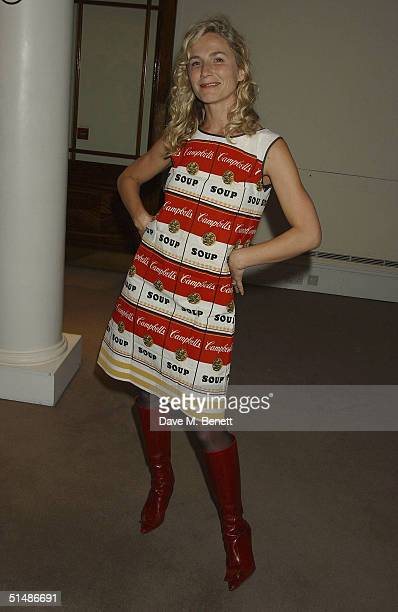 Kara Kellog attends the dinner and party to celebrate the auction of artworks from Damien Hirsts 'Pharmacy' restaurant in Notting Hill held at...