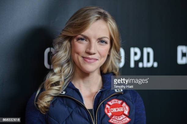 Kara Killmer attends the press junket for 'One Chicago' on October 30 2017 in Chicago Illinois