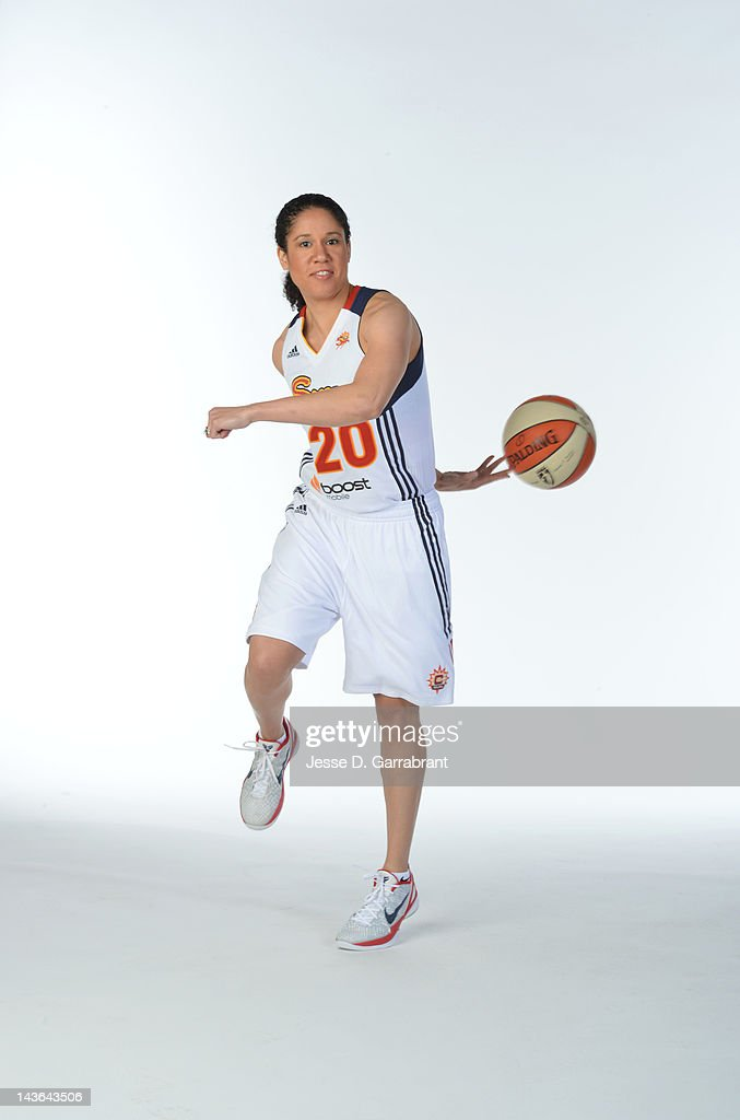 Kara Lawson #20 of the Connecticut Sun poses for a portrait during WNBA Media Day on May 1, 2012 at the Mohegan Sun in Uncasville, Connecticut.