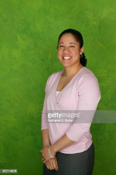 Kara Lawson of the Sacramento Monarchs poses for a portrait during the 2005 NBA AllStar Media Availability on February 18 2005 at The Westin Hotel in...