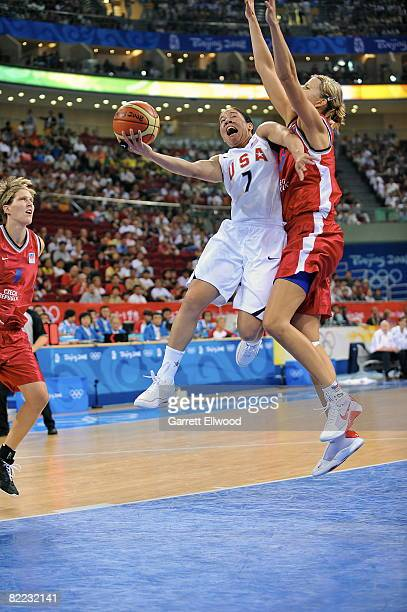 Kara Lawson of U.S. Women's Senior National Team shoots against the Czech Republic during day one of basketball at the 2008 Beijing Summer Olympics...