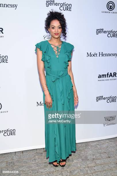 Kara McCullough attends the amfAR generationCURE Solstice 2017 at Mr Purple on June 20 2017 in New York City