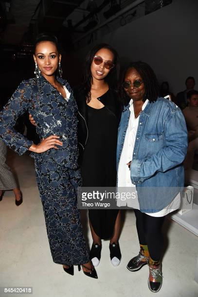 Kara McCullough Jerzey Dean and Whoopi Goldberg attend Vivienne Hu fashion show during New York Fashion Week The Shows at Gallery 3 Skylight Clarkson...
