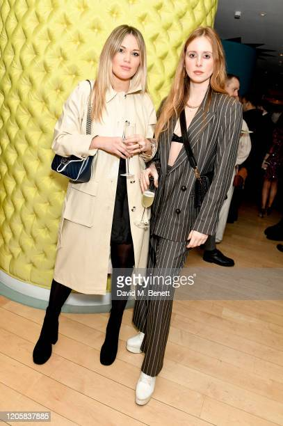 Kara Rose Marshall and Diana Vickers attend the launch of popup restaurant The Nitery by Gizzi Erskine at St Martins Lane on February 12 2020 in...