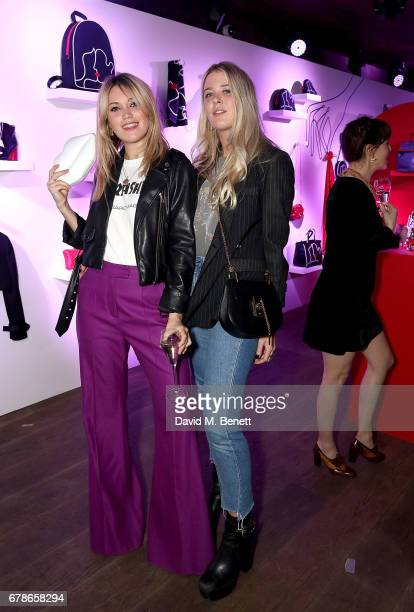Kara Rose Marshall and Gracie Egan attend the Lulu Guinness AW17 launch celebration at The London EDITION on May 4 2017 in London England