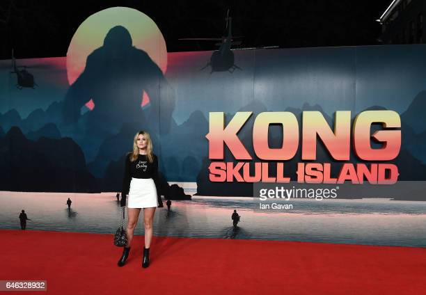 Kara Rose Marshall attends the European premiere of Kong Skull Island at the Cineworld Empire Leicester Square on February 28 2017 in London United...