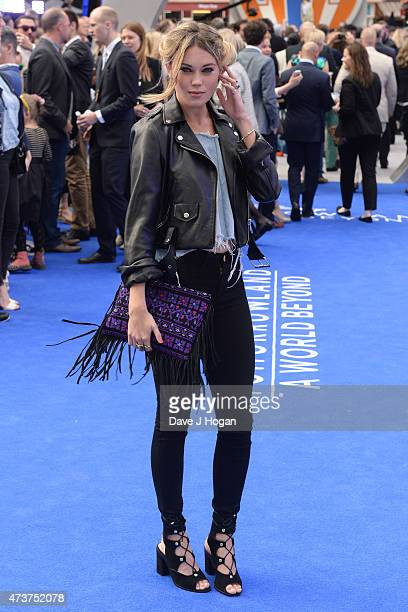 Kara Rose Marshall attends the Tomorrowland A World Beyond European premiere at Leicester Square on May 17 2015 in London England