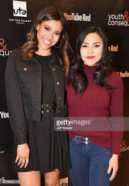Kara Royster and Anna Akana attend the YouTube Red Originals Series 'Youth Consequences' screening on February 28 2018 in Los Angeles California