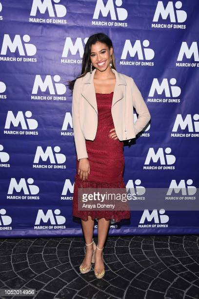 Kara Royster attends the March of Dimes Signatures Chefs Auction Los Angeles on October 11 2018 in Beverly Hills California