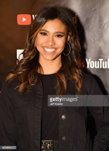Kara Royster attends the YouTube Red Originals Series 'Youth Consequences' screening on February 28 2018 in Los Angeles California