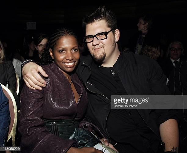 Kara Saun and Jay McCarroll during Gen Art's Eighth Annual Styles International Design Competition 2006 - Arrivals and Front Row at Hammerstein...