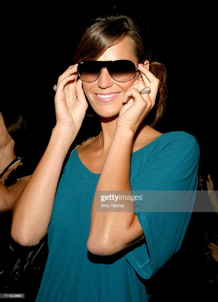 503bfc99c0 Kara Schmidt in Ray Ban sunglasses in the Luxottica Group Lounge at ...