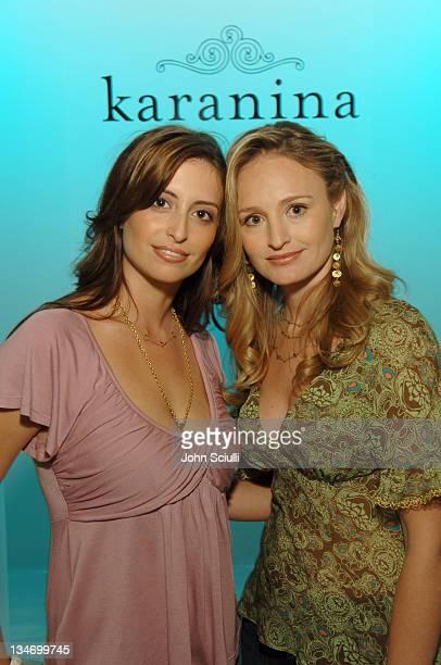 Kara Smith and Nina Firestone designers during MercedesBenz Spring 2006 LA Fashion Week at Smashbox Studios Karanina Front Row at Smashbox Studios in...