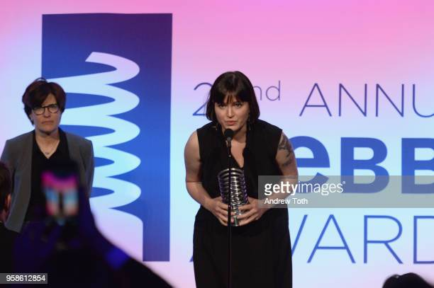 Kara Swisher and Susan Fowler onstage at The 22nd Annual Webby Awards at Cipriani Wall Street on May 14 2018 in New York City