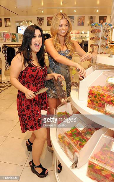 Kara Taitz and Amber Lancaster attend Sugar Factory American Brasserie on April 30 2011 in Las Vegas Nevada