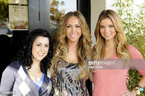 Kara Taitz Diana Madison and Amber Lancaster attend Cooking Healthy With Jason Chi Event at Chi Dynasty on November 4 2010 in Los Angeles California
