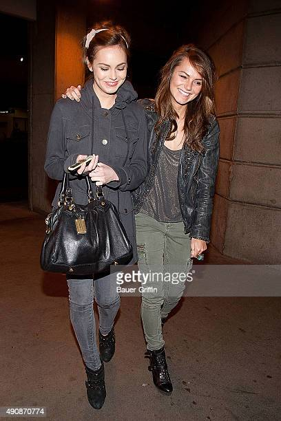 Kara Tointon and and her sister Hannah Tointon are seen at Los Angeles International Airport on March 14 2011 in Los Angeles California