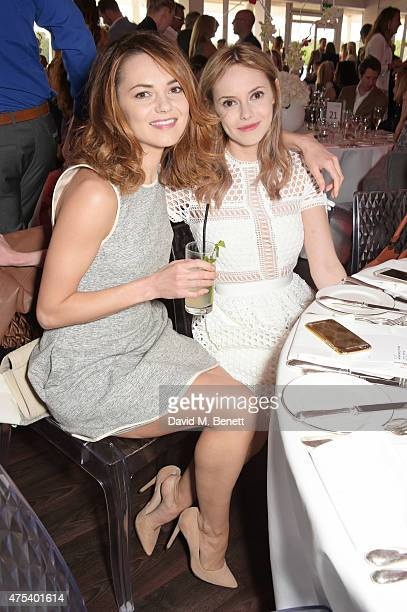 Kara Tointon and sister Hannah Tointon attend day two of the Audi Polo Challenge at Coworth Park on May 31 2015 in London England