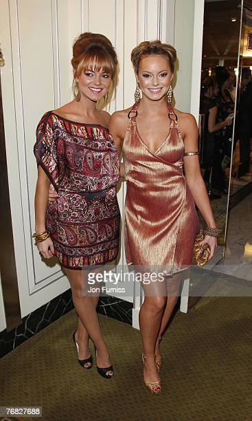 Kara Tointon and sister Hannah Tointon attend the TV Quick and TV Choice Awards at the Dorchester Hotel on September 03 2007 in London