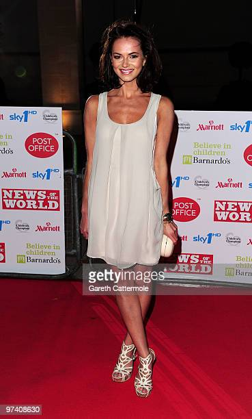 Kara Tointon arrives at the Children's Champions 2010 Awards at the Grosvenor House Hotel on March 3 2010 in London England