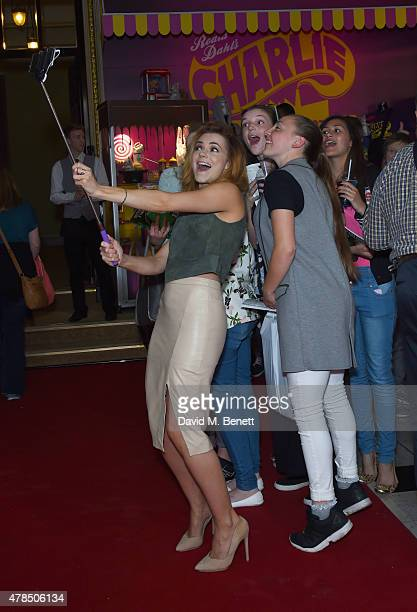 Kara Tointon attends the Charlie and the Chocolate Factory second birthday in the West End at Theatre Royal on June 25 2015 in London England
