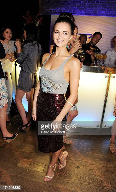 Kara Tointon attends the launch of British Airways Silent Picturehouse at Vinopolis on July 22 2013 in London England
