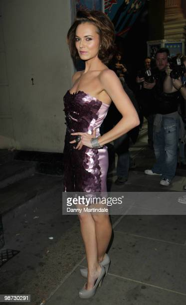 Kara Tointon attends the launch party of 'The Pixie Collection' for Lipsy at Movida on April 28 2010 in London England