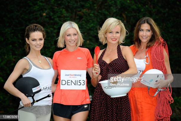 Kara Tointon Denise Van Outen Amanda Holden and Lisa Snowdon launch Vodafone JustTextGiving Charity Challenges at The Hempel Hotel on September 5...