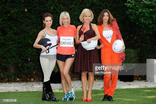 Kara Tointon Denise Van Outen Amanda Holden and Lisa Snowdon launche Vodafone JustTextGiving Charity Challenges at The Hempel Hotel on September 5...