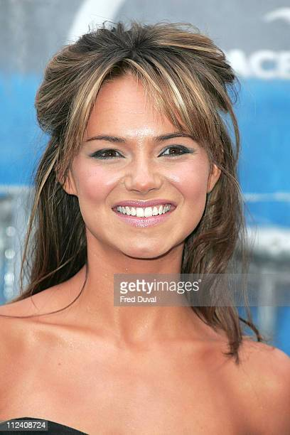 Kara Tointon during 'Ice Space' Launch Party Outside Arrivals at Tower Bridge in London Great Britain