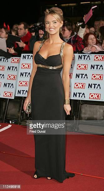 Kara Tointon during National Television Awards 2006 Red Carpet at Royal Albert Hall in London Great Britain