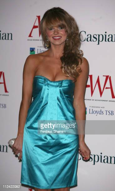 Kara Tointon during The Asian Women of Achievement Awards Arrivals at London Hilton on Park Lane in London United Kingdom