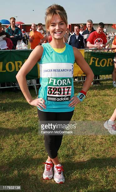 Kara Tointon during the Flora London Marathon 2007 in London England on April 22 2007
