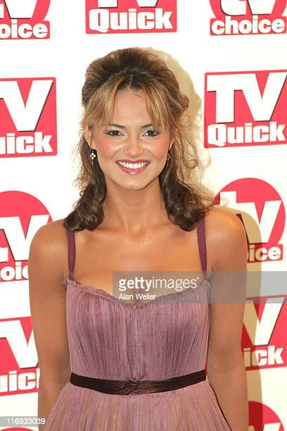 Kara Tointon during TV Quick Awards TV Choice Awards Inside Arrivals at The Dorchester in London Great Britain