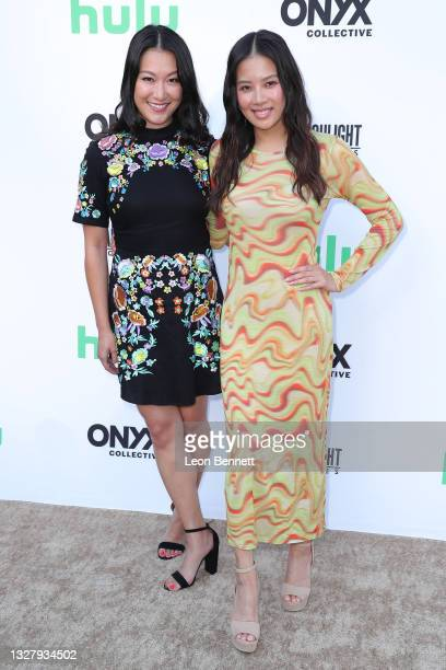 """Kara Wang and Christine Ko attends a Cinespia Special Screening Of Fox Searchlight And Hulu's """"Summer Of Soul"""" With Questlove at The Greek Theatre on..."""