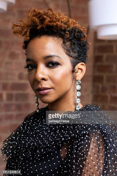 Kara Young poses for a portrait before hosting 2021 PEN America Literary Awards on April 07, 2021 in New York City. This year's virtual ceremony...