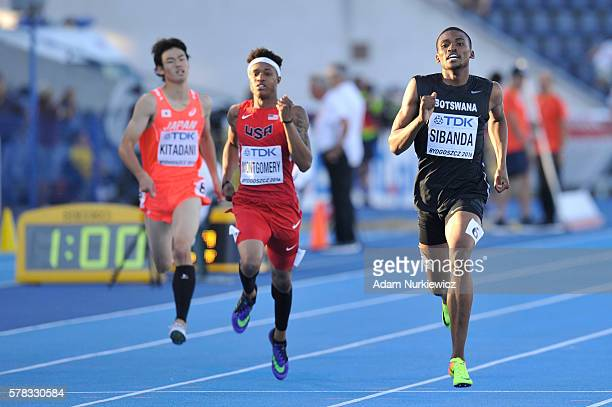 Karabo Sibanda from Botswana competes in men's 400 metres during the IAAF World U20 Championships at the Zawisza Stadium on July 21 2016 in Bydgoszcz...