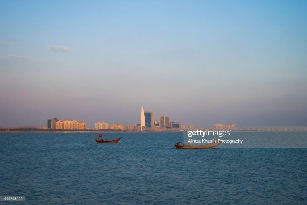 Karachi City Sea View Stock Photo - Getty Images