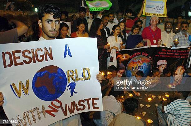 Pakistani representatives of non governmental orgainzations gather during the Earth Day ceremony in Karachi 22 April 2007 The original equinoctial...