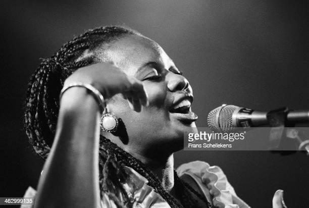 Karaikoo Ensemble of Zanzibar, vocal, performs at the Melkweg on 22th June 1990 in Amsterdam, the Netherlands.