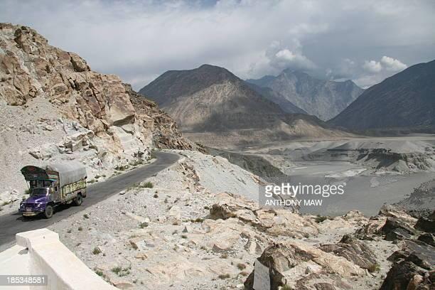 Karakoram Highway Pakistan and Indus River China-Pakistan Karakoram Highway