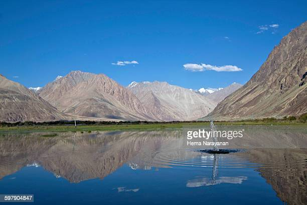 karakoram landscape - enroute nubra - hema narayanan stock pictures, royalty-free photos & images