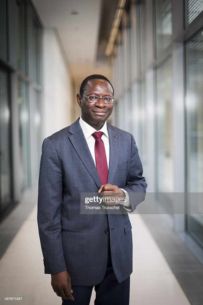 Karamba Diaby, SPD, a member of the German Bundestag, poses during a portrait session on December 16, 2013 in Berlin, Germany.