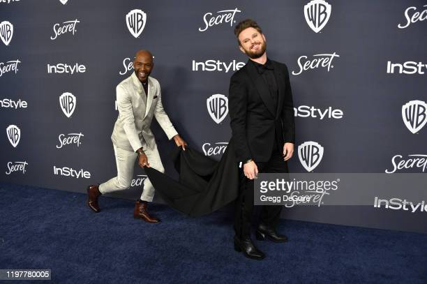 Karamo Brown and Bobby Berk attend the 21st Annual Warner Bros. And InStyle Golden Globe After Party at The Beverly Hilton Hotel on January 05, 2020...