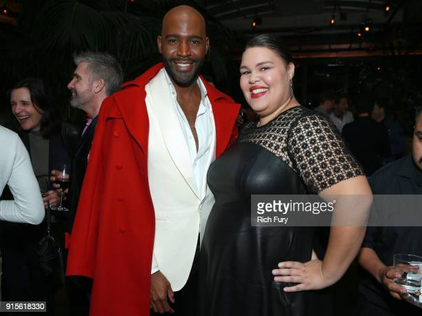 Karamo Brown and Britney Young attend Netflix's Queer Eye premiere screening and after party on February 7 2018 in West Hollywood California