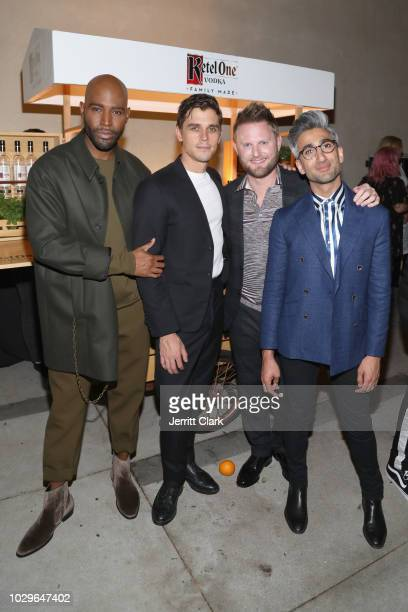 Karamo Brown Antoni Porowski Bobby Berk and Tan France attend The Queer Eye Emmy Cast Party hosted by Ketel One FamilyMade Vodka at Kimpton La Peer...