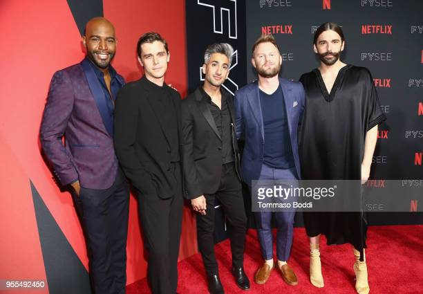 Karamo Brown Antoni Porowski Tan France Bobby Berk and Jonathan Van Ness attend the Netflix FYSEE KickOff Event at Netflix FYSEE At Raleigh Studios...