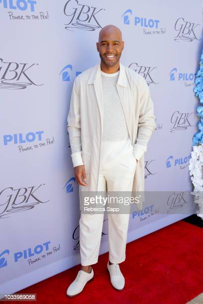 Karamo Brown attends Pilot Pen GBK Celebration Lounge Day 2 at LÕErmitage on September 15 2018 in Beverly Hills California
